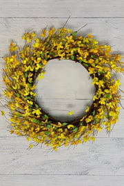 Silk Forsythia Wreath 24""