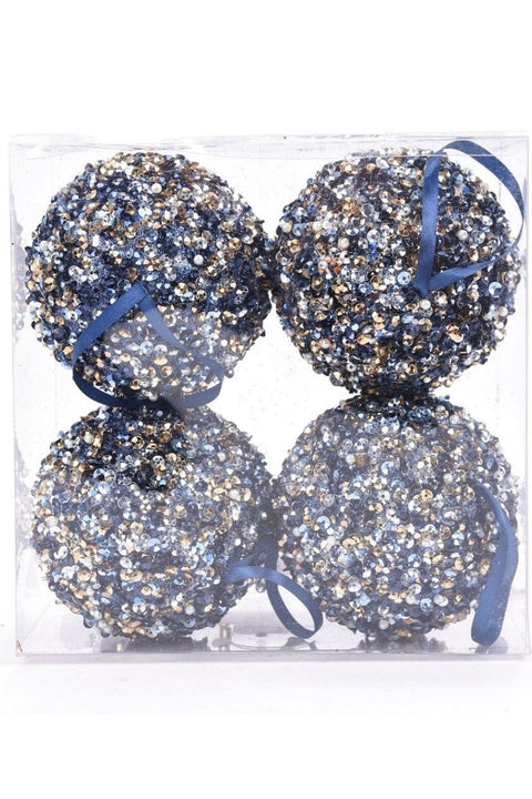 Ornament, Glittering Blue Ball (sold separately)