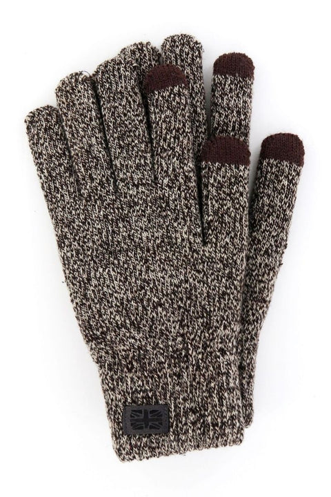 Britt's Knits Mens Brown Gloves