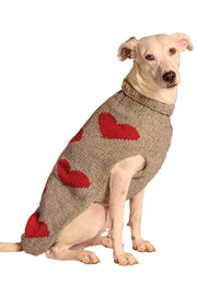 Chilly Dog Sweater Hearts
