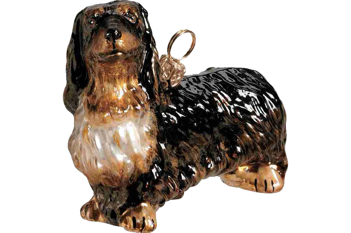Long-haired Dachshund Ornament