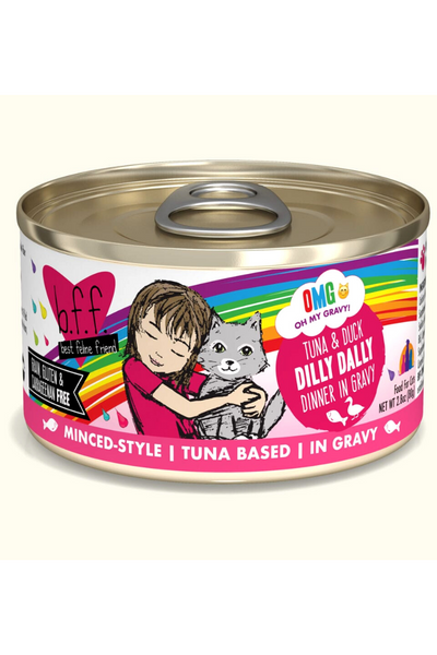 Weruva Dilly Dally Tuna & Duck Dinner in Gravy (2.8 oz Can)