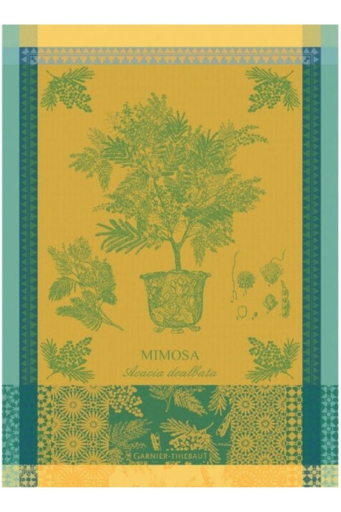 "Garnier-Thiebaut, Mimosa Jaune Kitchen Towel 22""x30"""