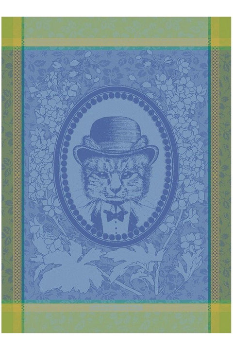 "Garnier-Thiebaut, Monsieur Chat Bleu Kitchen Towel 22""x30"""