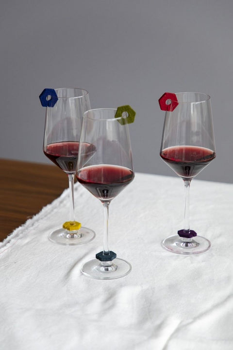 Wine-O's Felt Wine Markers Hexagon