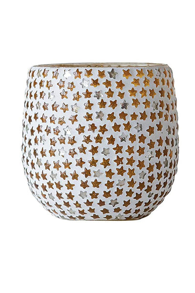 Glass Star Mosaic Tealight Candle Holder 3""