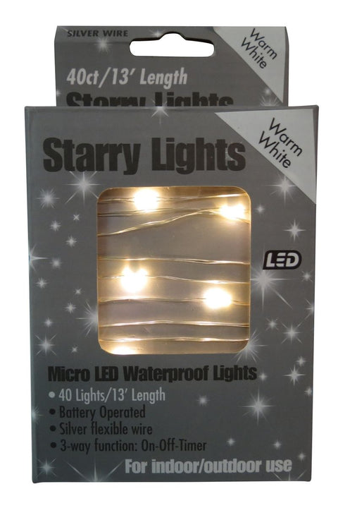 Micro LED Warm White Starry Lights 13'