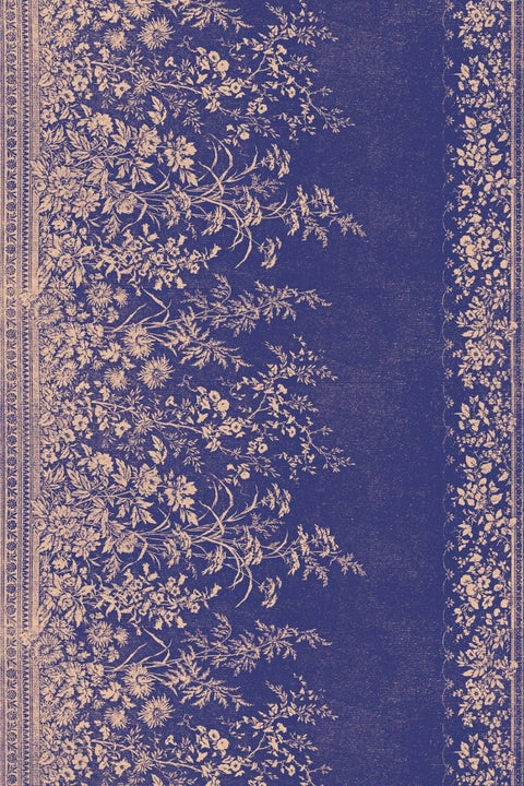Navy Woven Floral Placement