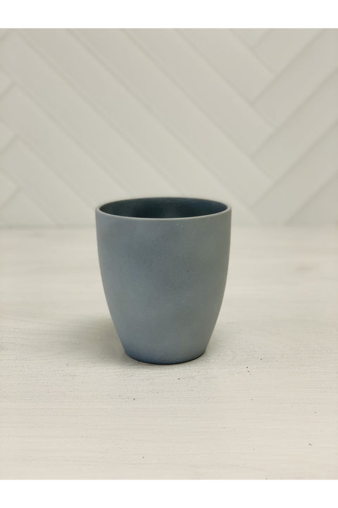 Orchid Grey Stone Pot 5.75""