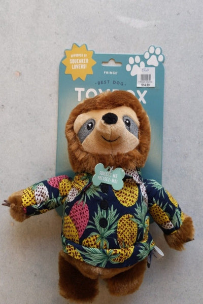 Vacay Vibes Sloth Dog Toy