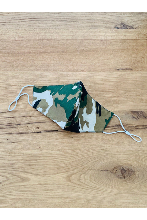 Camo Patterned Face Mask