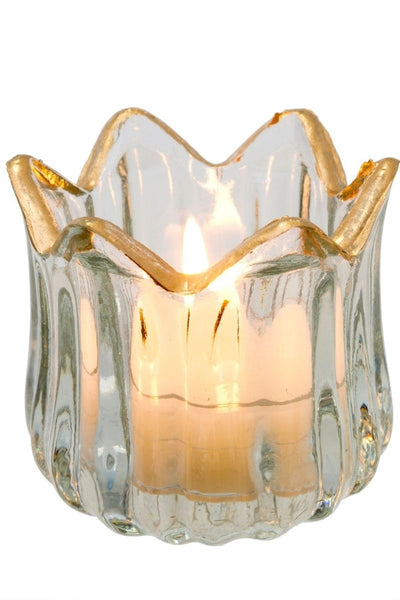 Golden Rim Tealight Candleholder