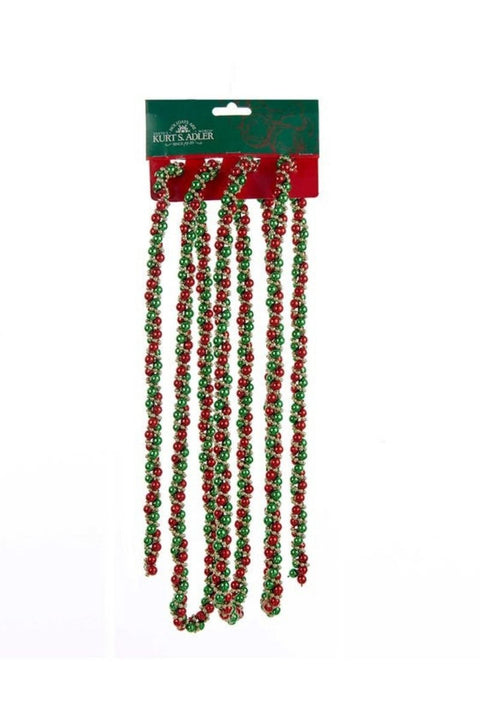 Garland, Red, Green and Gold Twisted Bead