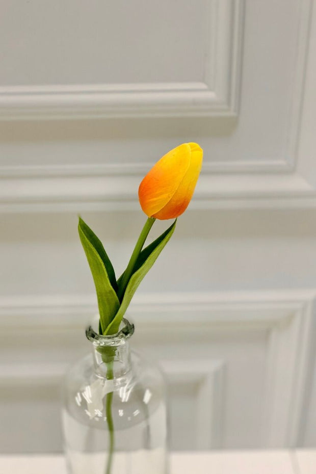 Silk Yellow Mini Tulip 14""