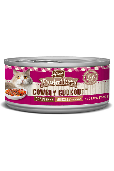 Merrick Purrfect Bistro Grain Free Cowboy Cookout Canned Cat Food