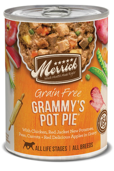 Merrick Grain Free Grammy's Pot Pie in Gravy Canned Dog Food