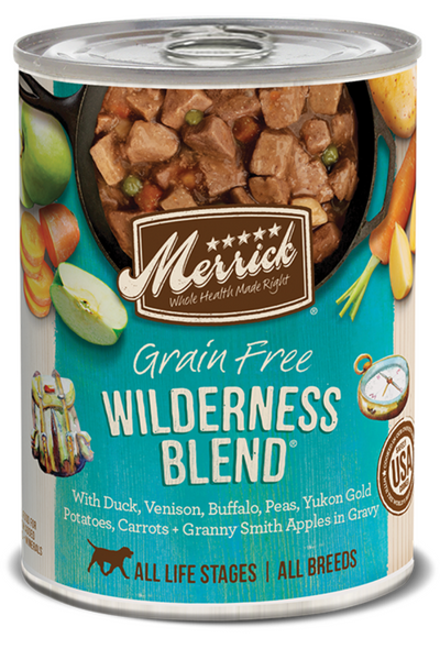 Merrick Grain Free Wilderness Blend in Gravy Canned Dog Food