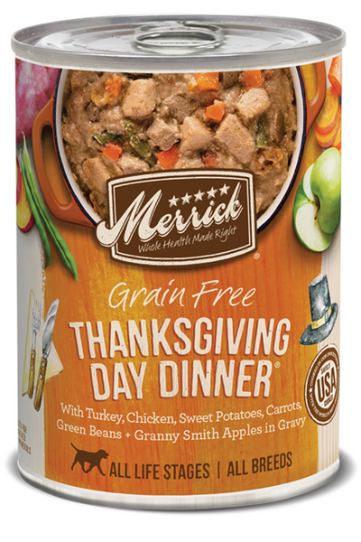 Merrick Grain Free Thanksgiving Day Dinner in Gravy Canned Dog Food