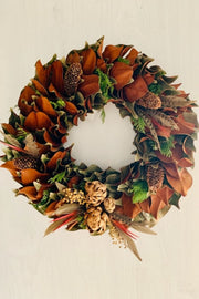 Wreath, Feathers & Artichoke Hearts 24""
