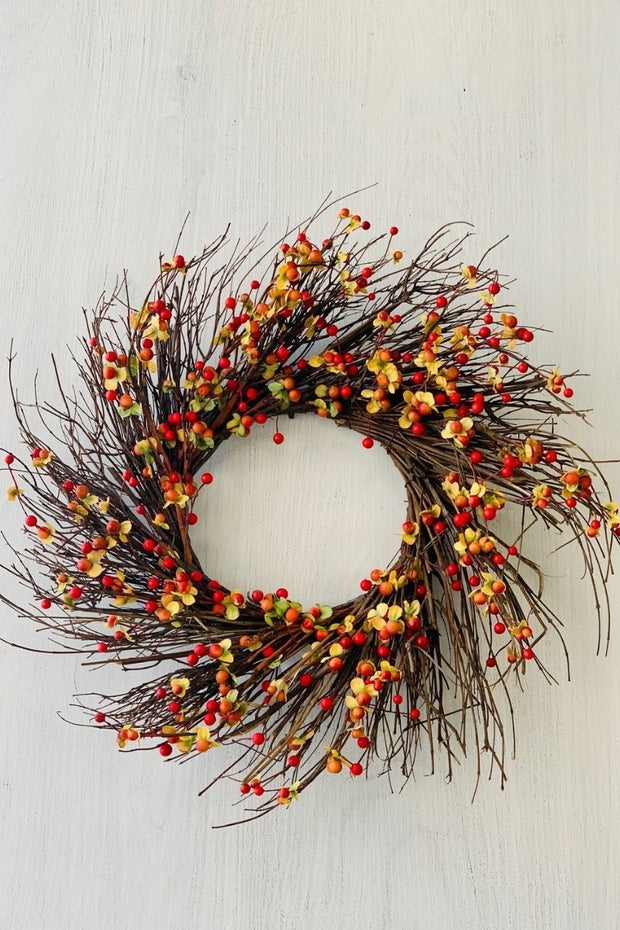 Silk Berry Burst Wreath