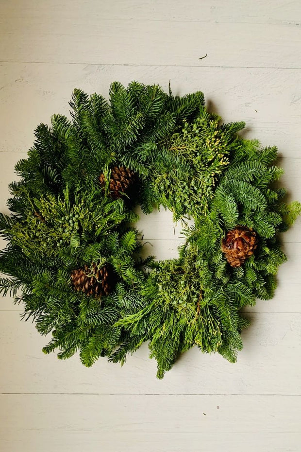 Mixed Noble Fir Wreath