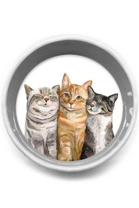 Green Box Art Feline Friends - Cat Bunch Serveware Pet Bowl