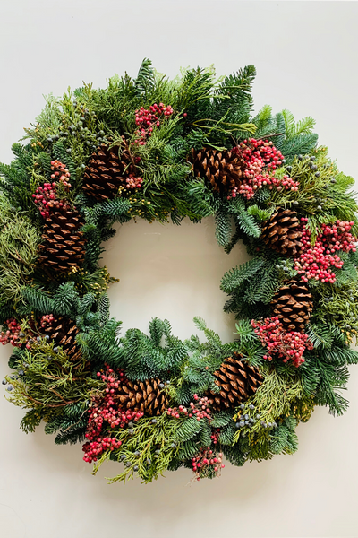 Wreath | Fresh | Noble Fir Canella 24""
