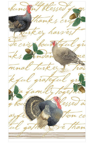 Caspari Founders' Thanksgiving Paper Guest Towel Napkins