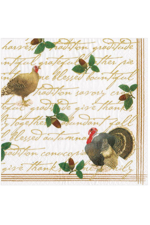 Caspari Founders' Thanksgiving Paper Luncheon Napkins