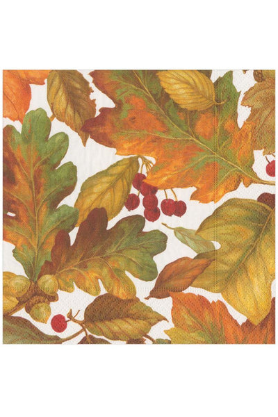 Caspari Autumn Leaves II Paper Luncheon Napkins