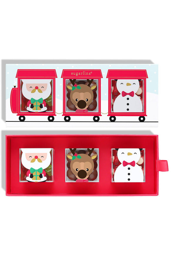 Sugarfina Holiday Train 3-Piece Bento Box