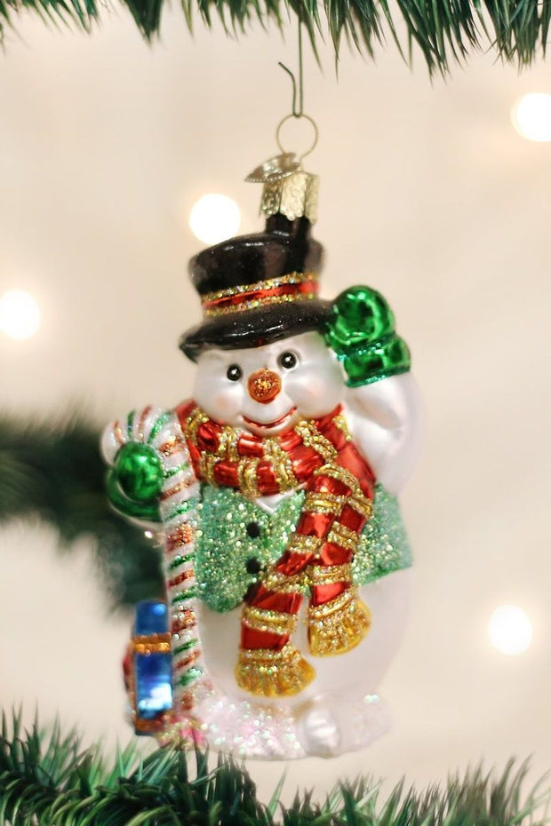 Ornament, Candy Cane Snowman