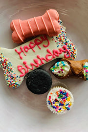 """Happy Birthday Barkery Box"" Dog Treats -  Pink"