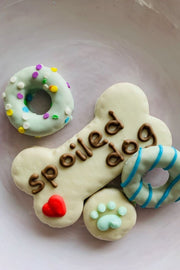 """Spoiled Dog Barkery"" Dog Treats - Blue"