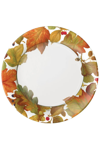 Caspari Autumn Leaves II Paper Dinner Plates