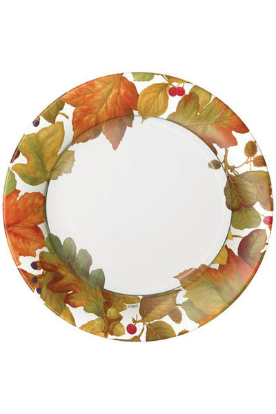 Caspari Autumn Leaves II Paper Salad & Dessert Plates