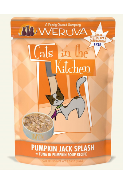 Weruva Cats In the Kitchen Pumpkin Jack Splash Pouch with Tuna in Pumpkin Soup (3.0 oz)