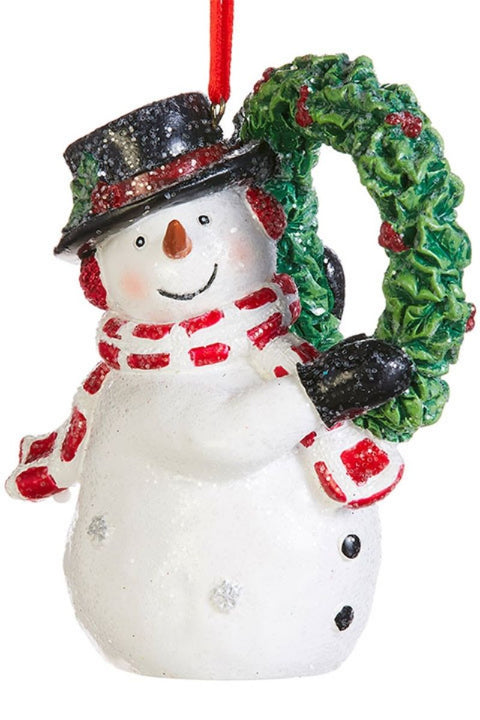 Ornament, Snowman with Wreath