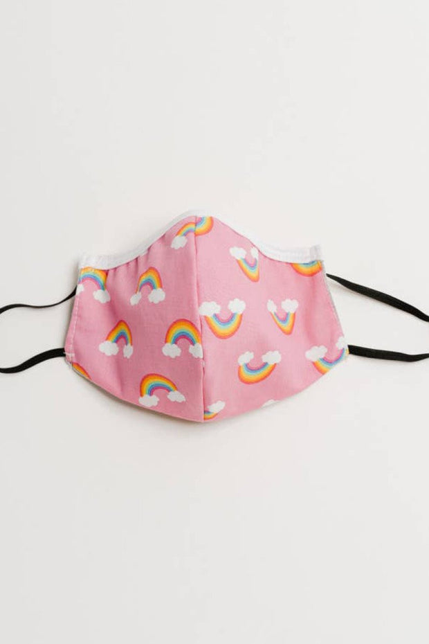 Pink Rainbow Face Mask - Children