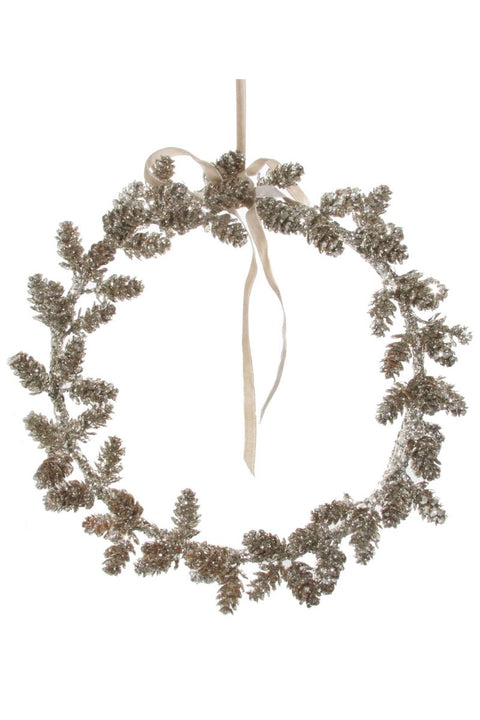 Wreath, Silver Glitter Mini-Cone