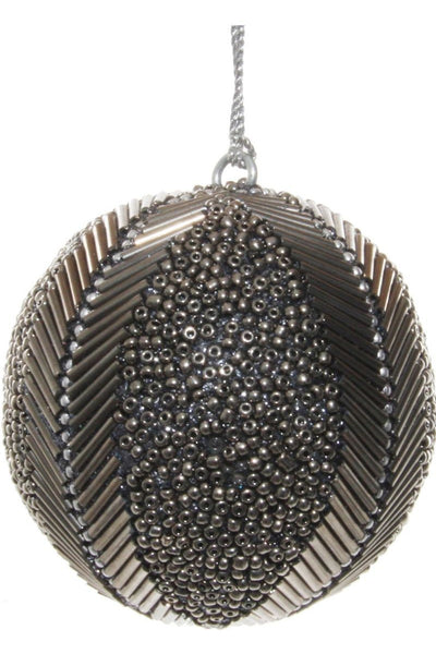Ornament, Beaded Grey Ball