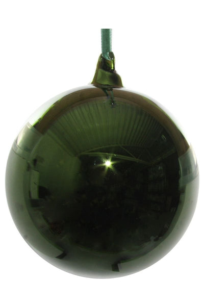 Ornament, Shiny Green Glass Ball