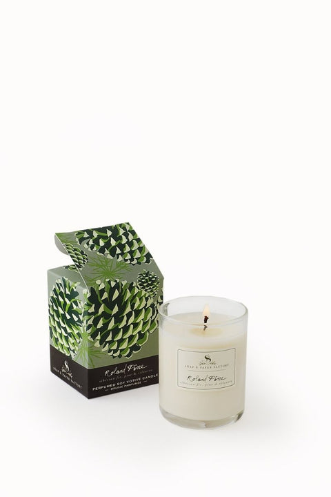 Soap & Paper Factory Roland Pine Votive Soy Candle