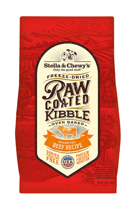 Stella & Chewy's Grass-Fed Beef Raw Coated Kibble (22 lbs)