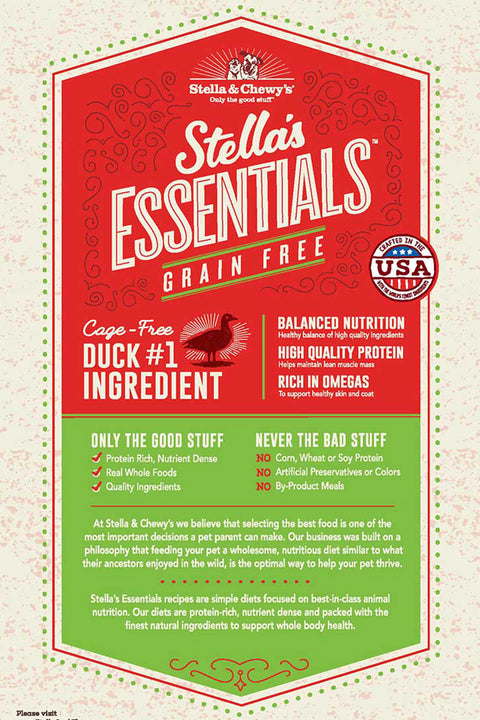 Stella & Chewy's Grain-Free Cage-Free Duck & Lentils Recipe