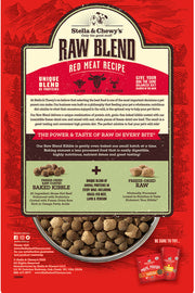 Stella & Chewy's Red Meat Raw Blend Kibble Freeze-Dried Raw Blend (22 lbs)