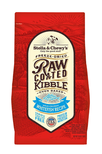 Stella & Chewy Wild-Caught Whitefish Raw Coated Kibble (22 lbs)