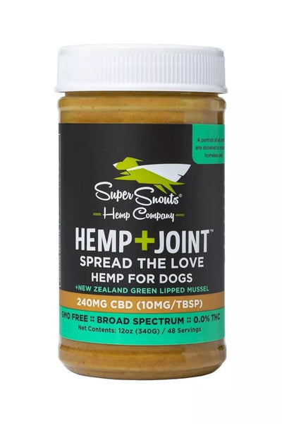 Super Snouts Hemp+Joint CBD Peanut Butter (For Flavor) Dog Chew