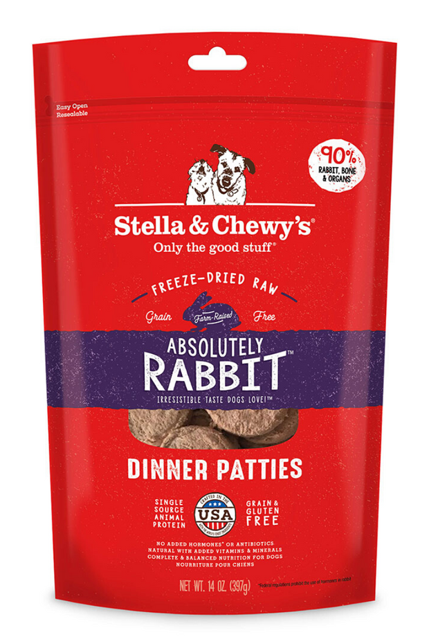 Absolutely Rabbit Freeze-Dried Raw Dinner Patties