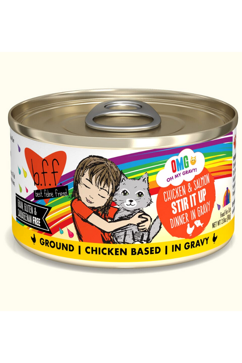 Weruva Chicken & Salmon Stir It Up Dinner in Gravy (2.8 oz Can)